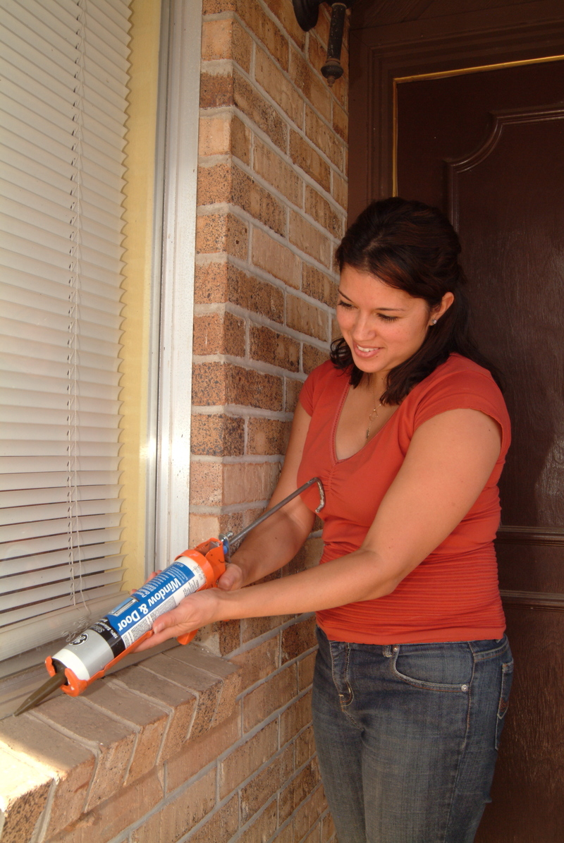 Seal air leaks around windows and doors - Image courtesy of http://nwpublicmedia.typepad.com/photos/uncategorized/2008/10/20/caulk_window_wwwicraorg.jpg